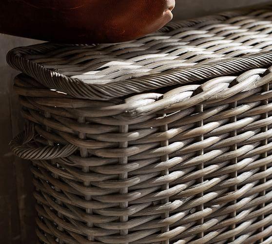 Aubrey Woven Oversized Lidded Basket | Pottery Barn