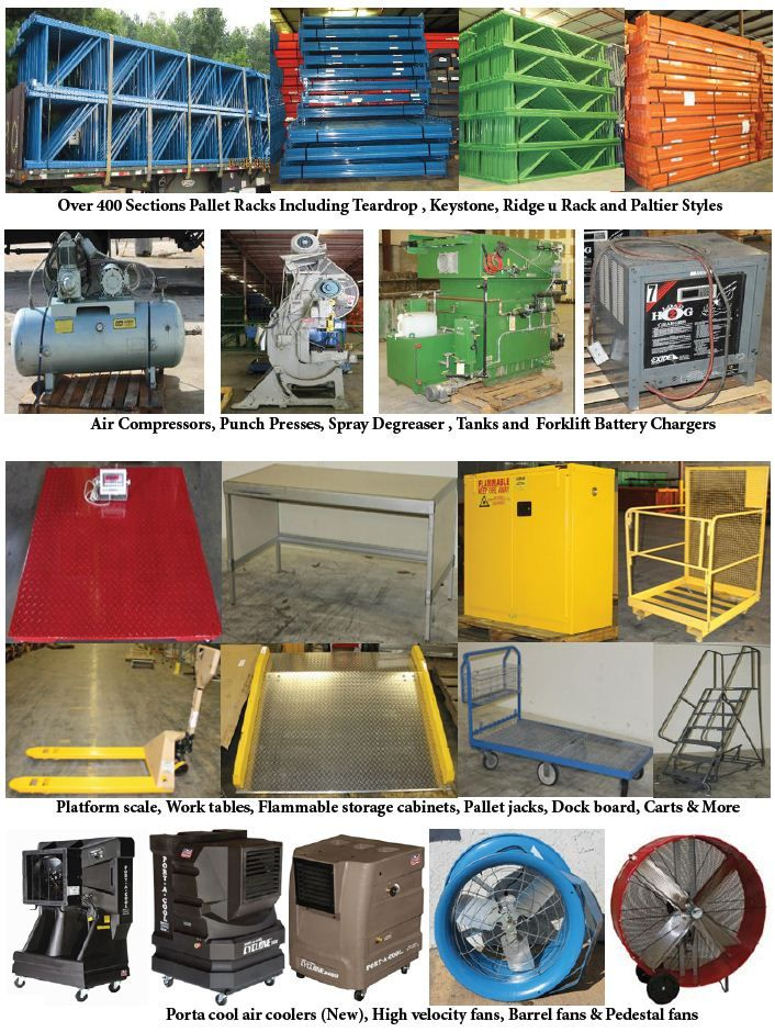 Auction 24 Warehouse Racks, Electric Motors, Forklifts
