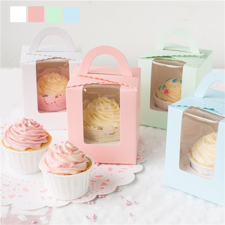 Cupcake Box Handheld Single Cake Container Muffin Cup Cake Boxes Food Gift Packaging 14*14*6.5 cm 10 pcs/lot-in Baking & Pastry Tools from Home & Garden on Aliexpress.com | Alibaba Group
