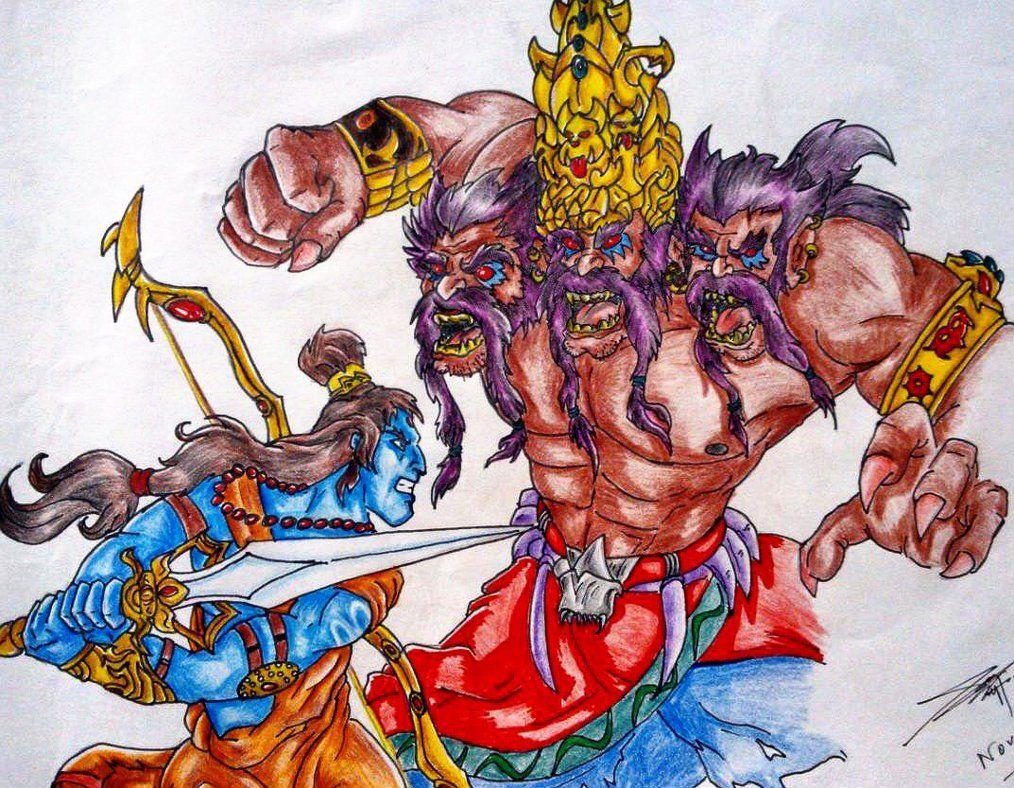 36 Best Ravana And His Rakshash Demons Visual Research Images On