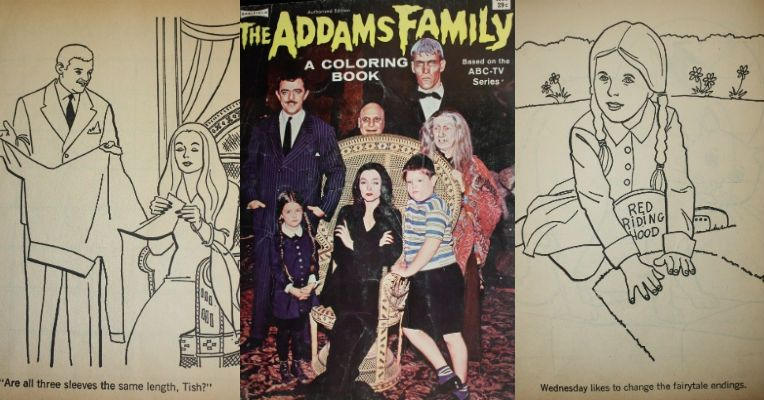 Witty And Macabre Addams Family Coloring Book From 1965 Dangerous Minds Family Coloring Coloring Books Vintage Coloring Books