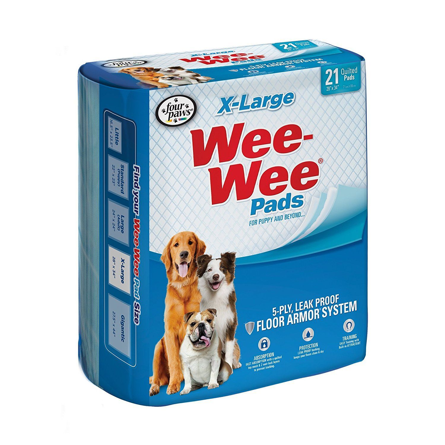 Wee Wee Xl Potty Pads 21 Count X Large Puppy Pads Dog