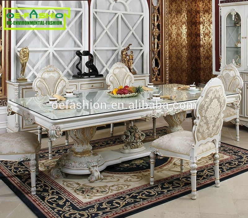 High Quality Tempered Glass Square Dining Room Table,fashion Dining Table  Wooden Carving Leg Dining Table, View Glass Top Wood Leg Dining Table, ...