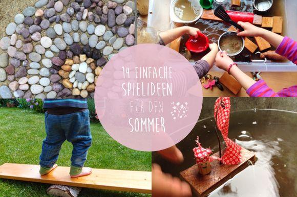 14 einfache spielideen f r den sommer kids activities pinterest spielideen kinder basteln. Black Bedroom Furniture Sets. Home Design Ideas