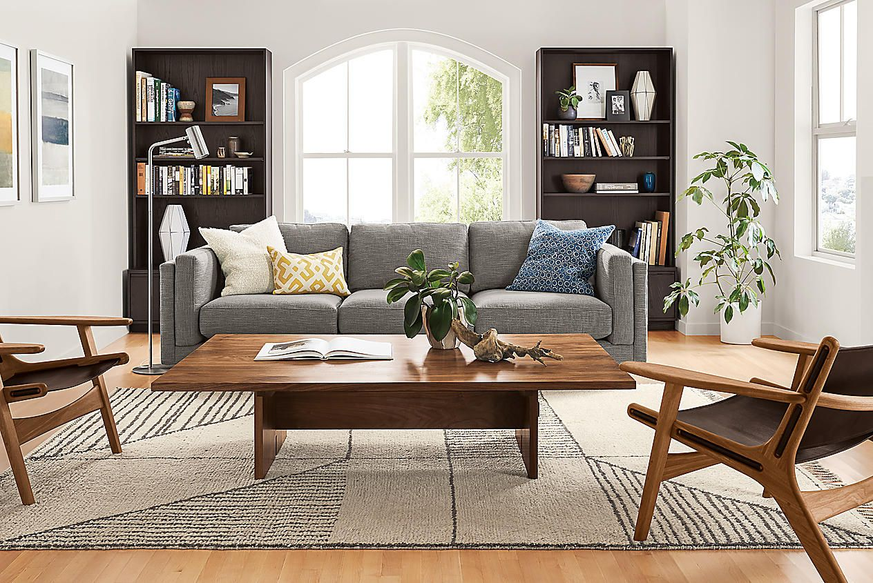 We Love To Mix And Match Different Woods In The Same Room See How To Combine Diff Modern Furniture Living Room Wood Furniture Living Room Leather Lounge Chair #wood #living #room #set