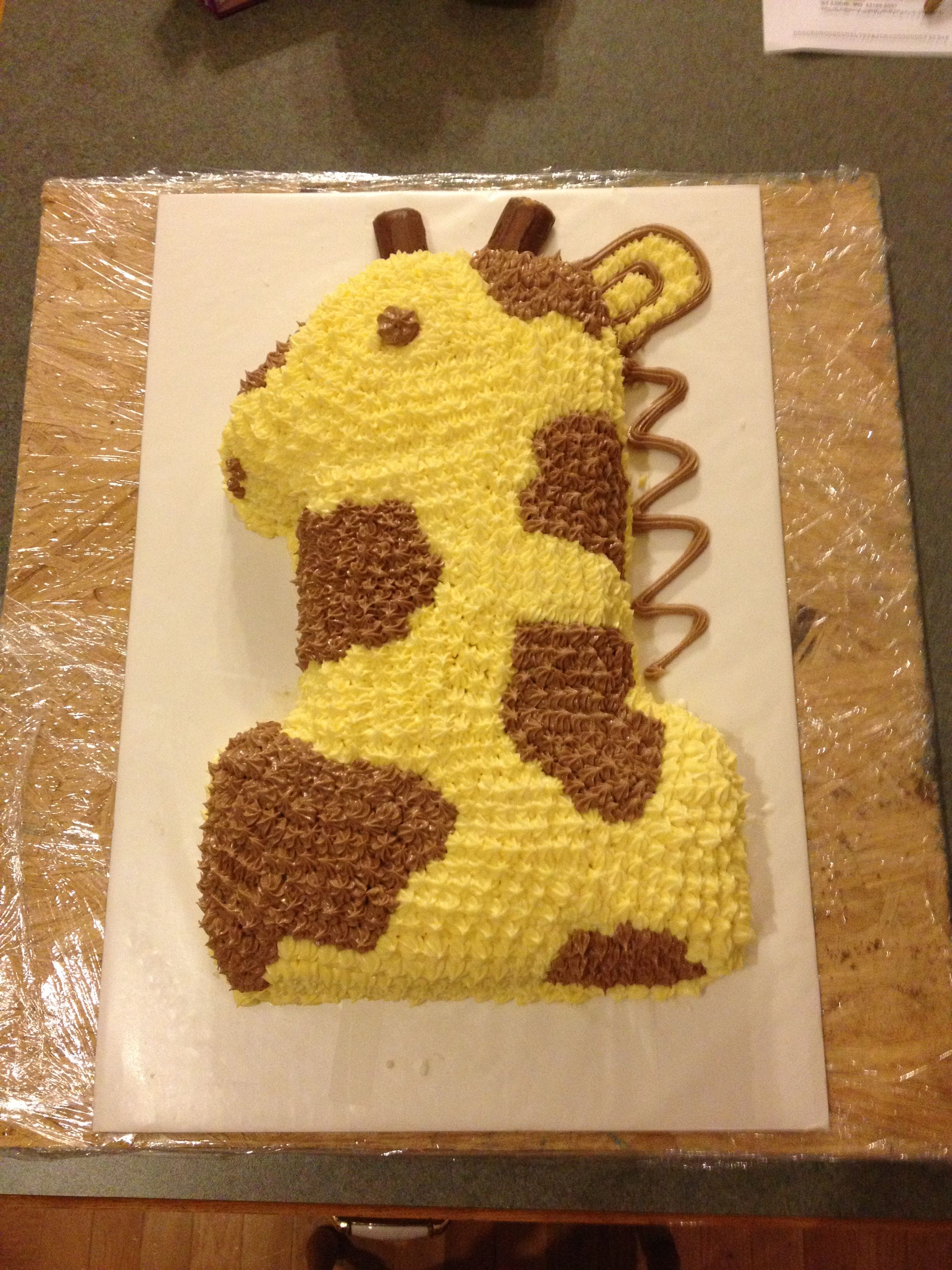 baby s first birthday cake 1 cake pan i turned into a giraffe on cake pans for babys first birthday
