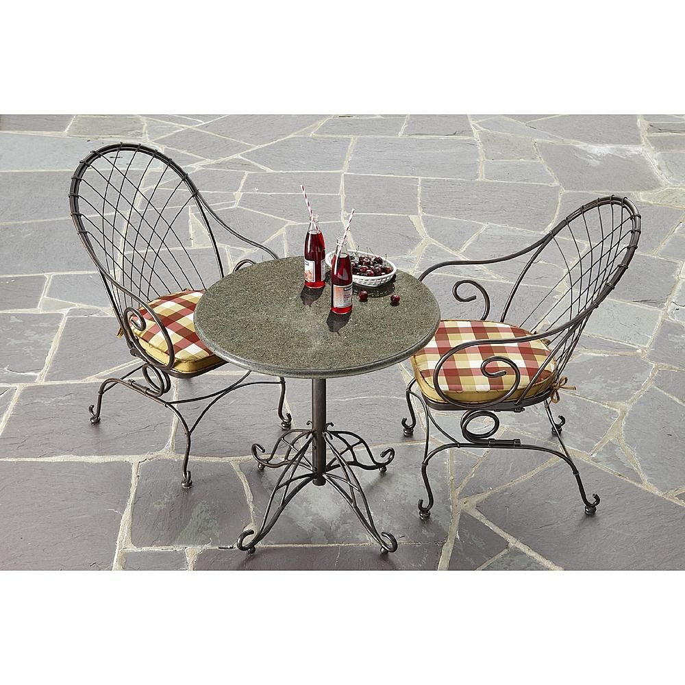 Jaclyn Smith Today Cherry Valley Granite Bistro Table Limited Availability Outdoor Living Patio