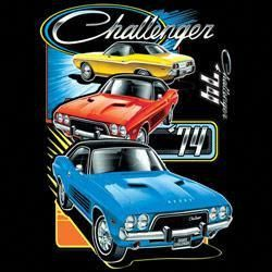 CHALLENGER TRIO t-shirt | licensed classic t-shirts | mens t shirt |  t shirts  cars trucks t-shirts pick up truck  –  T-shirt