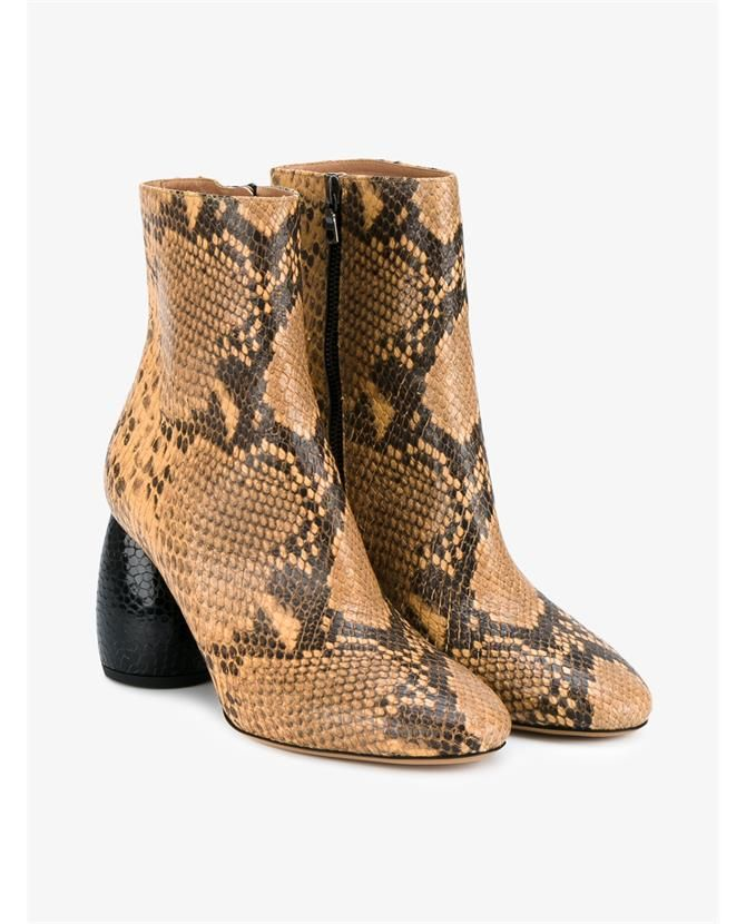 005b3520b8396e DRIES VAN NOTEN Snake Skin Ankle Boots.  driesvannoten  shoes  boots ...