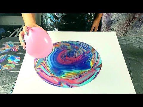 Balloon Smash Wrecked Ring Pour - Acrylic Pouring