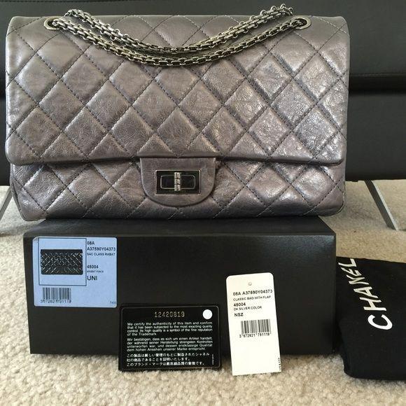 Chanel 2 55 In Dark Silver Chanel Chanel Bag Shoulder Bag