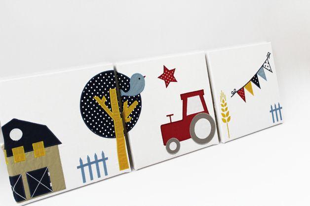 3tlg Wandbild Traktor Bild F Kinderzimmer Kinder Zimmer Kinderzimmer Traktor Bild