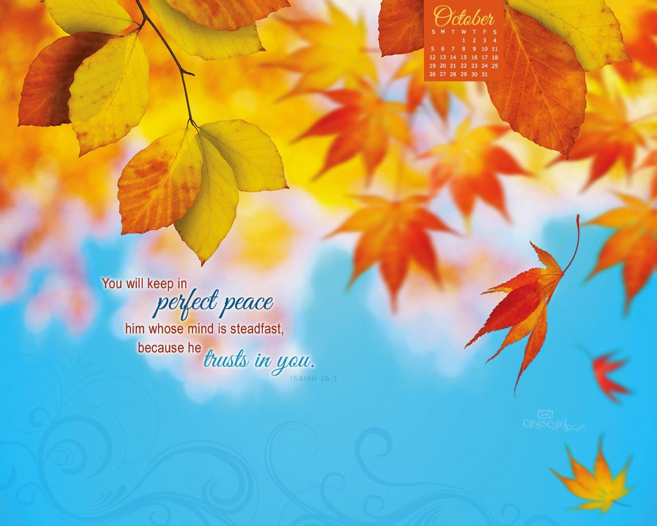 October 2014 Bible Verse Desktop Calendar Christian Wallpaper Scripture Wallpaper Perfect Peace