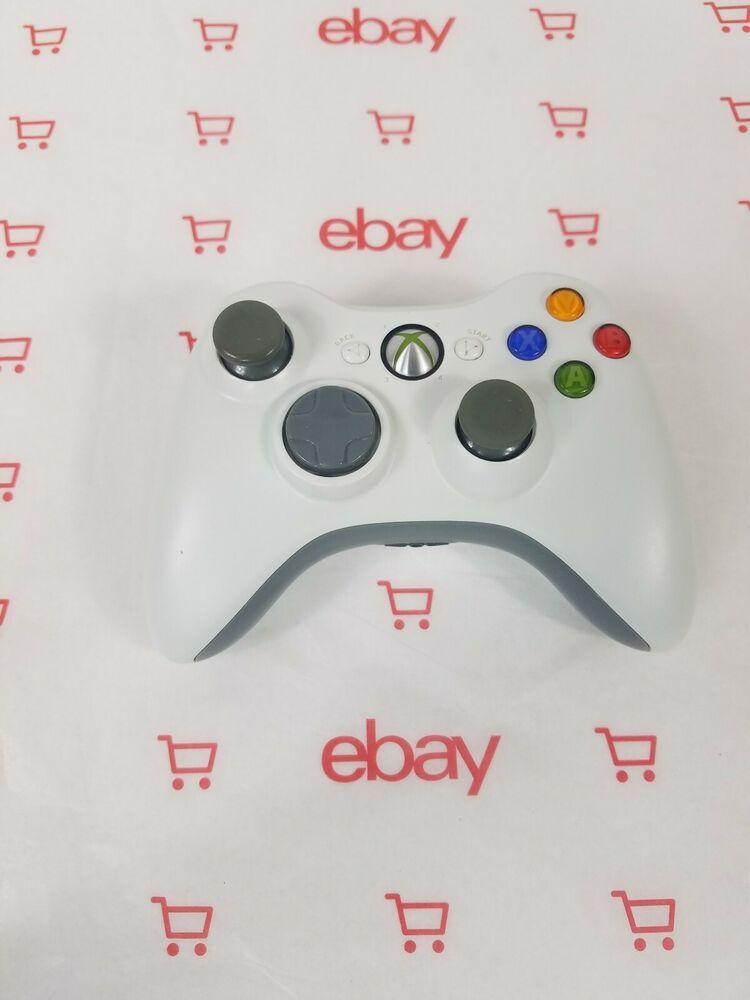 Official Microsoft Xbox 360 White Wireless Controller Genuine