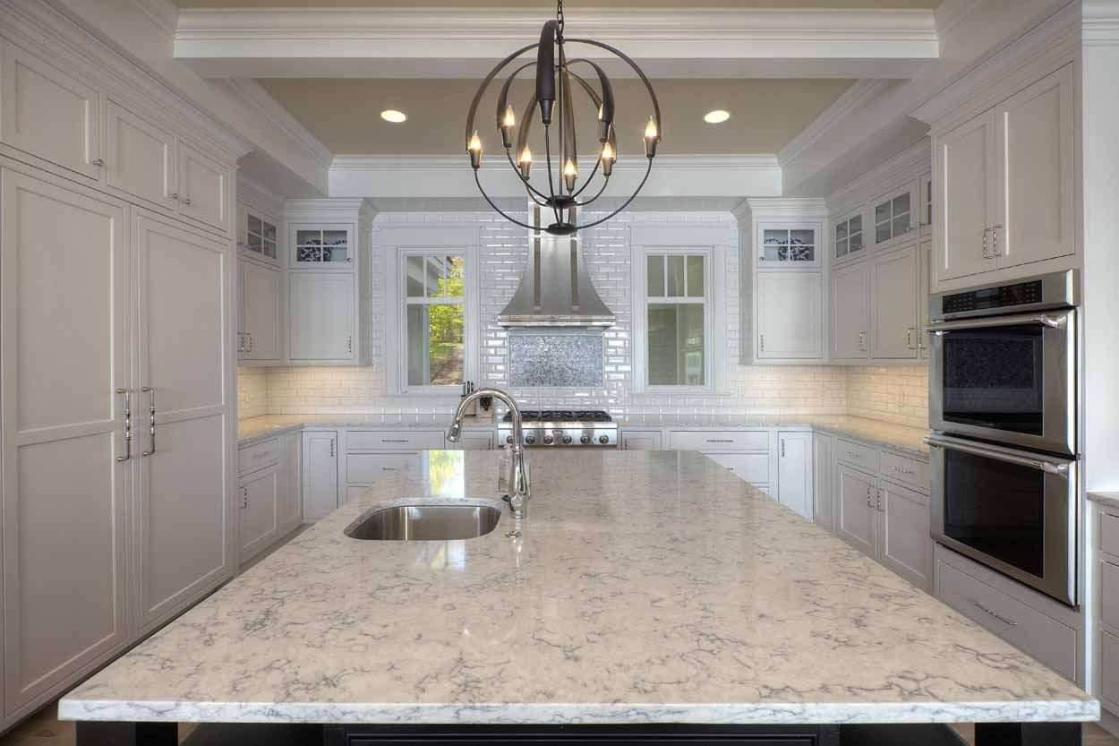 Angela Goodall Designed This Dreamy Kitchen In Traverse City Michigan She Used The Rockingham Door Kitchen Cabinets In Bathroom Green Cabinets Custom Kitchen