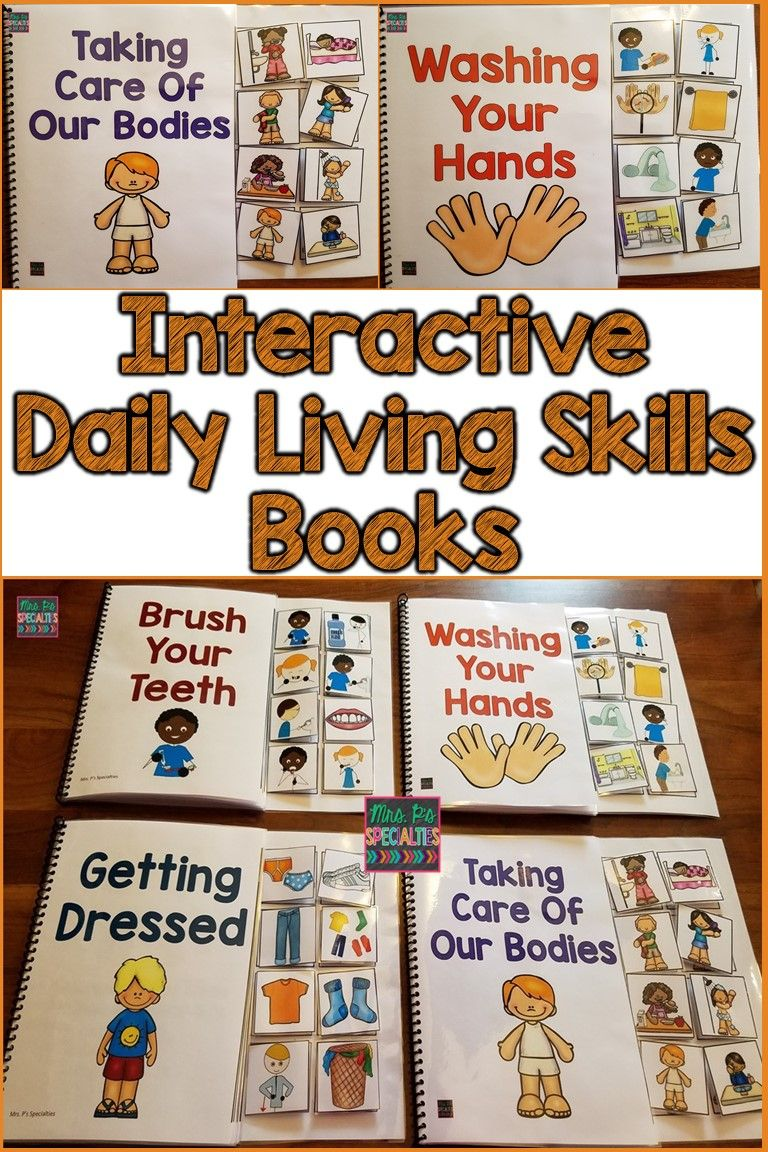 These ADL or daily living skills books