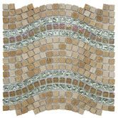 "Found it at Wayfair - Sierra 0.563"" x 0.563"" Glass, Natural Stone and Metal Mosaic Tile in Wave Venus"