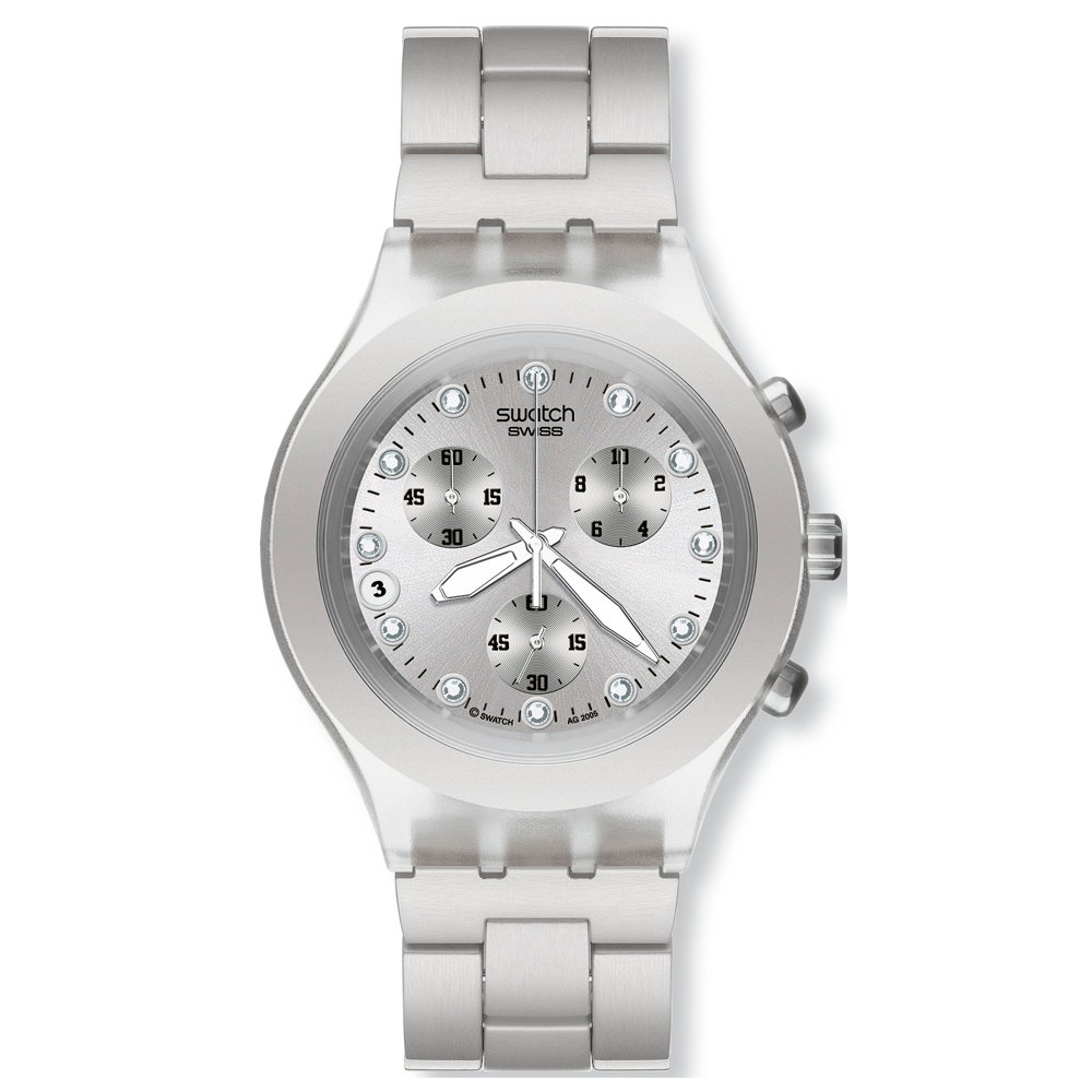 Reloj Swatch Full Blooded Silver Svck4038G Plateado