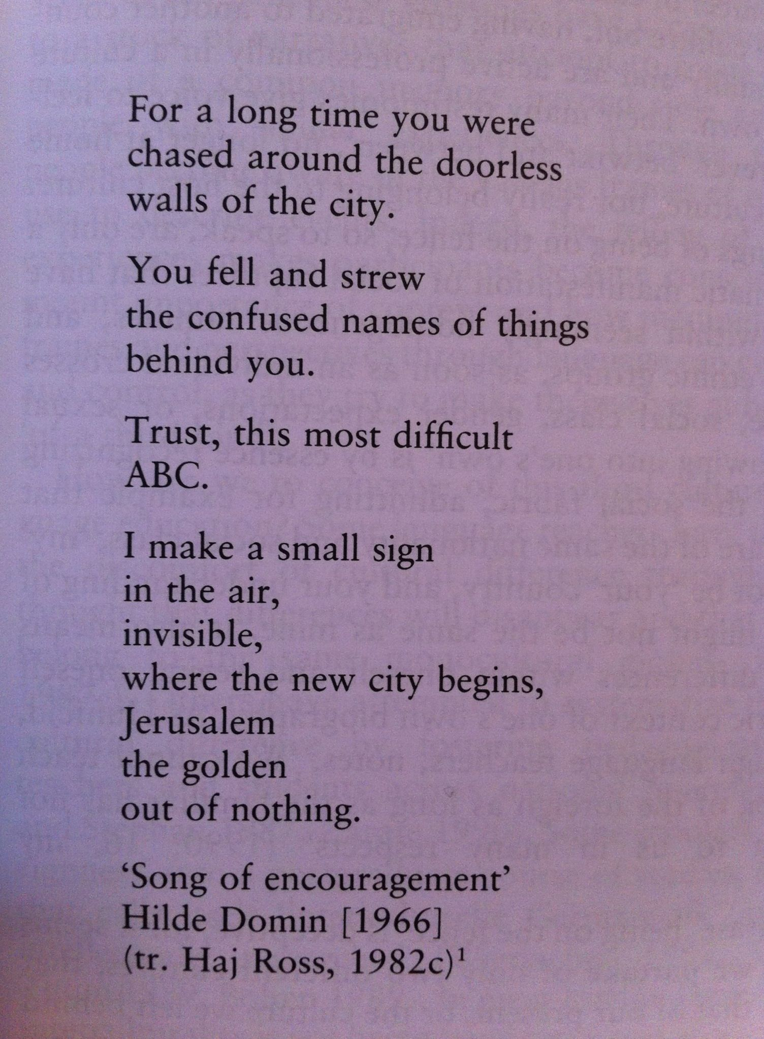 Song Of Encouragement By Hilde Domin Absolutely Beautiful