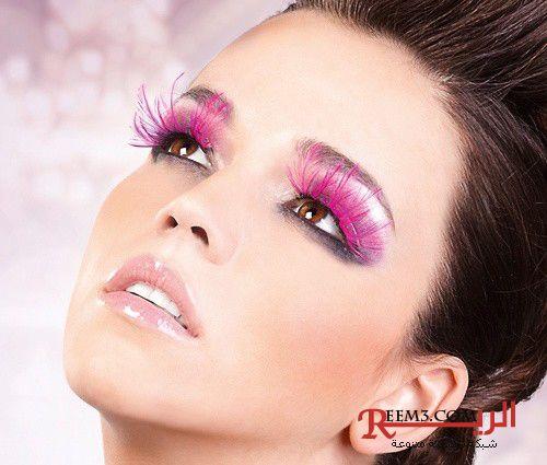 مكياج وردي ميك اب وردي 2016 Makeup Pink Feather Eyelashes Makeup Tips Smokey Eye Makeup