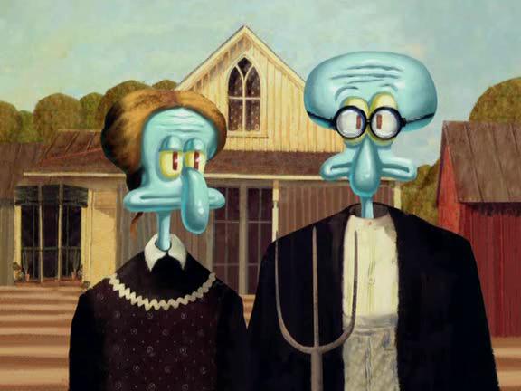 American Gothic In SpongeBob
