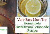 Easy Homemade SodaStream Lemonade Recipe (With Video) - #Easy #homemade #Lemonade #Recipe #Sodastream #VIDEO #easylemonaderecipe
