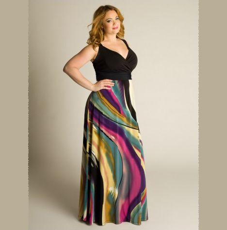 curvalicious clothes :: plus size dresses :: bassa plus size maxi