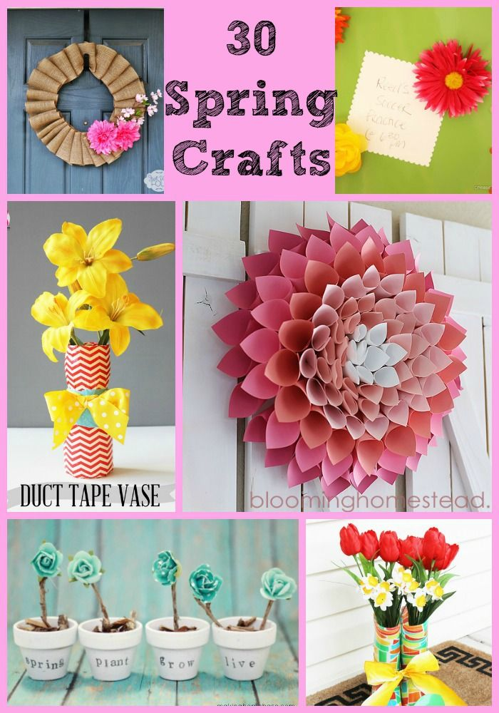 So Much Inspiration In This Group Of 30 Spring Crafts Ideas