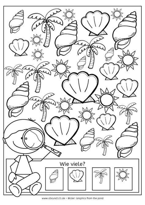 Tag 22: Ich sehe ... - | Pinterest | Kindergarten and Worksheets