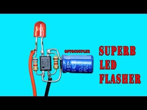 superb led flasher circuit using optocoupler youtube مدارات