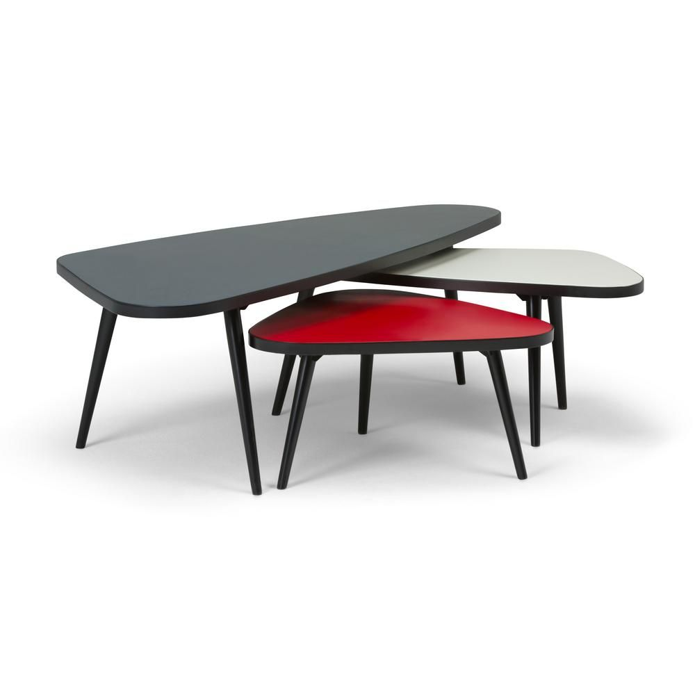 Best Simpli Home Aubrey 3 Piece Nesting Coffee Table Set In 400 x 300