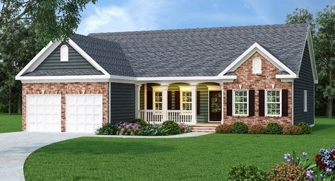 Ranch Plan 1566 Square Feet 3 Bedrooms 2 Bathrooms Shelby Brick Exterior House Ranch Style Homes Ranch House Plans