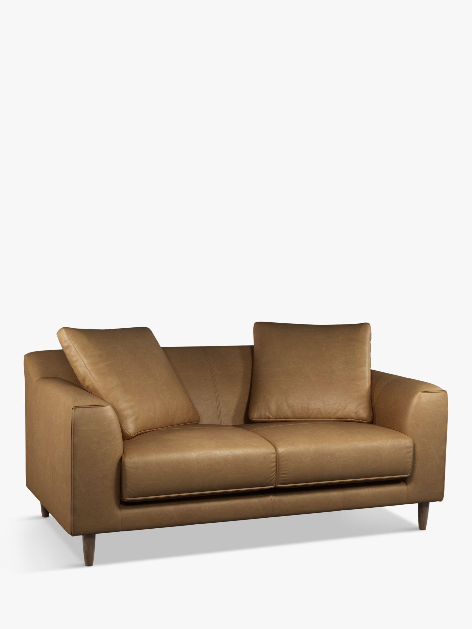 John Lewis Partners Billow Medium 2 Seater Leather Sofa