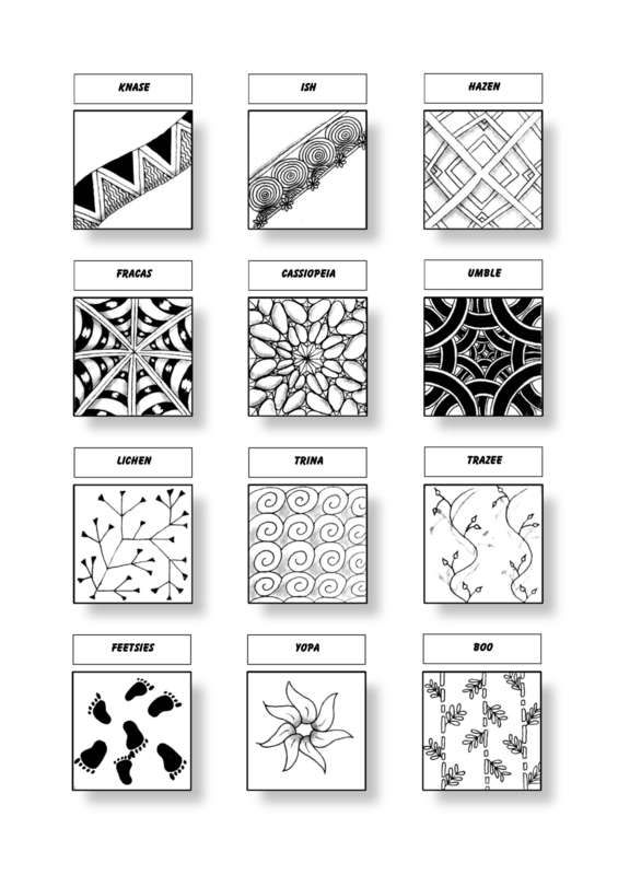 Cofono Czt Certified Zentangle Teacher Mustersammlung Zentangle Muster Verflechtung Muster Zentangle Designs