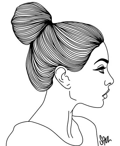 Nice Illustration Girl Face Drawing Face Drawing Side Face Drawing