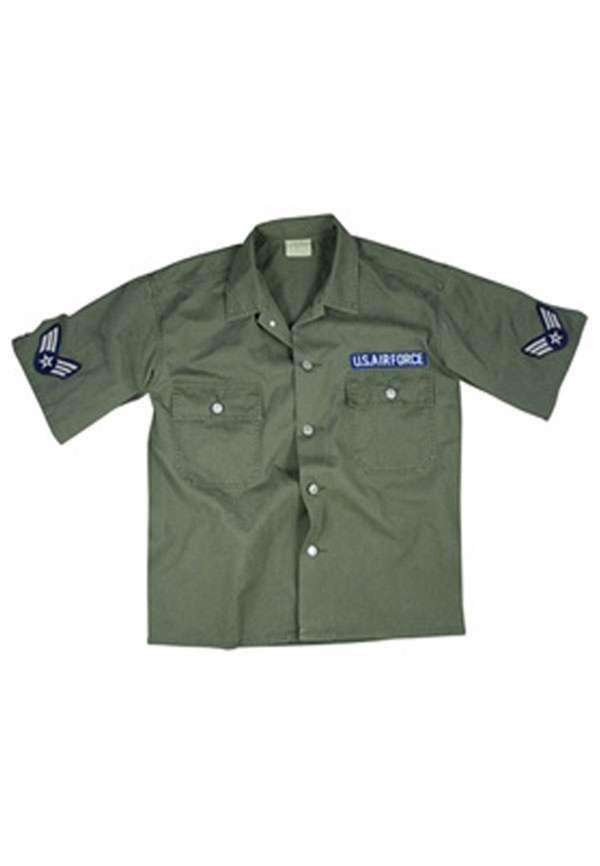 a48beb77ac87 Vintage OD Army Air Corp 2-Pocket Short Sleeve BDU Shirt