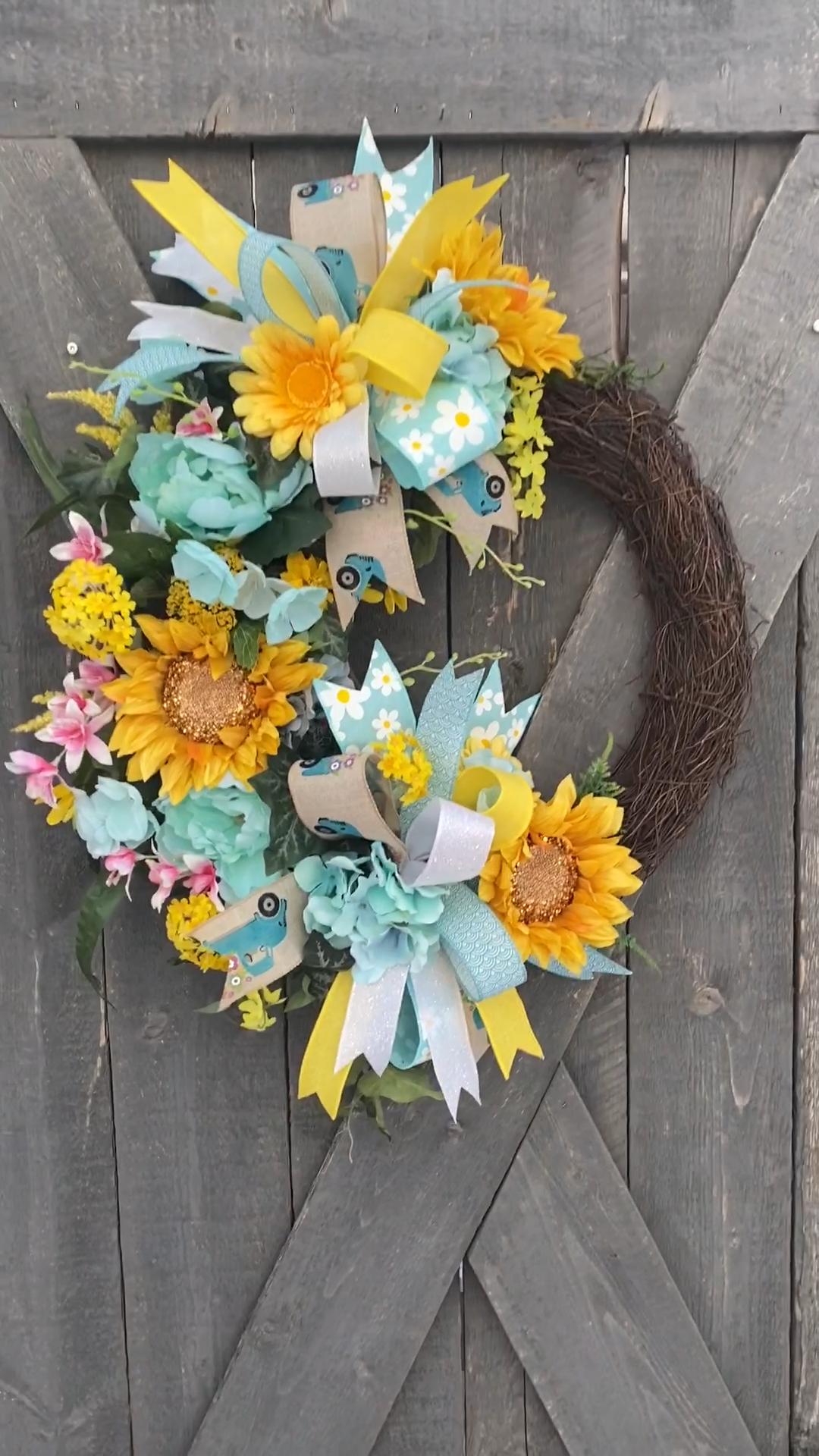 Photo of Spring sunflower wreath