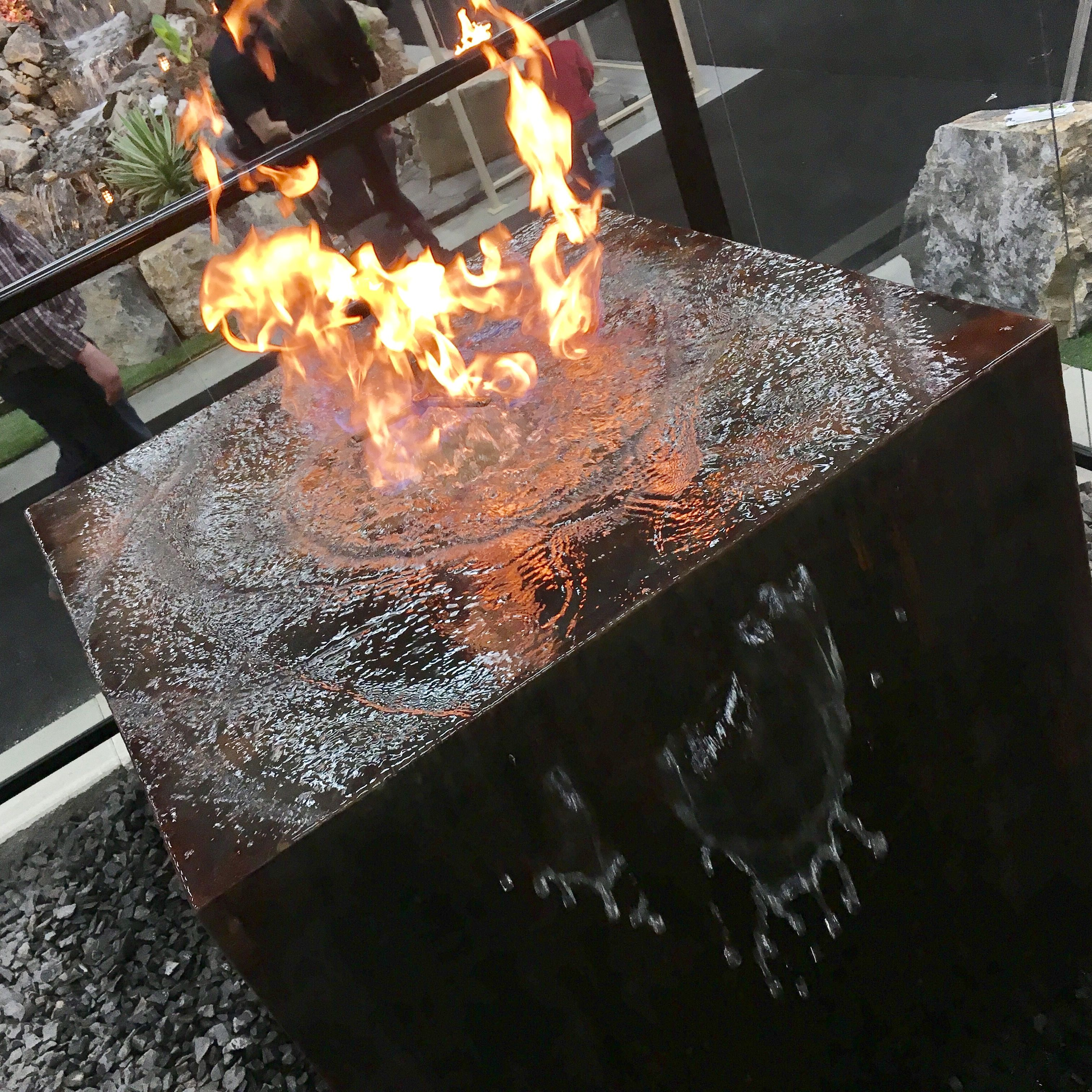 Fire Pit And Water Feature Combo By Rclcanada Landscaping