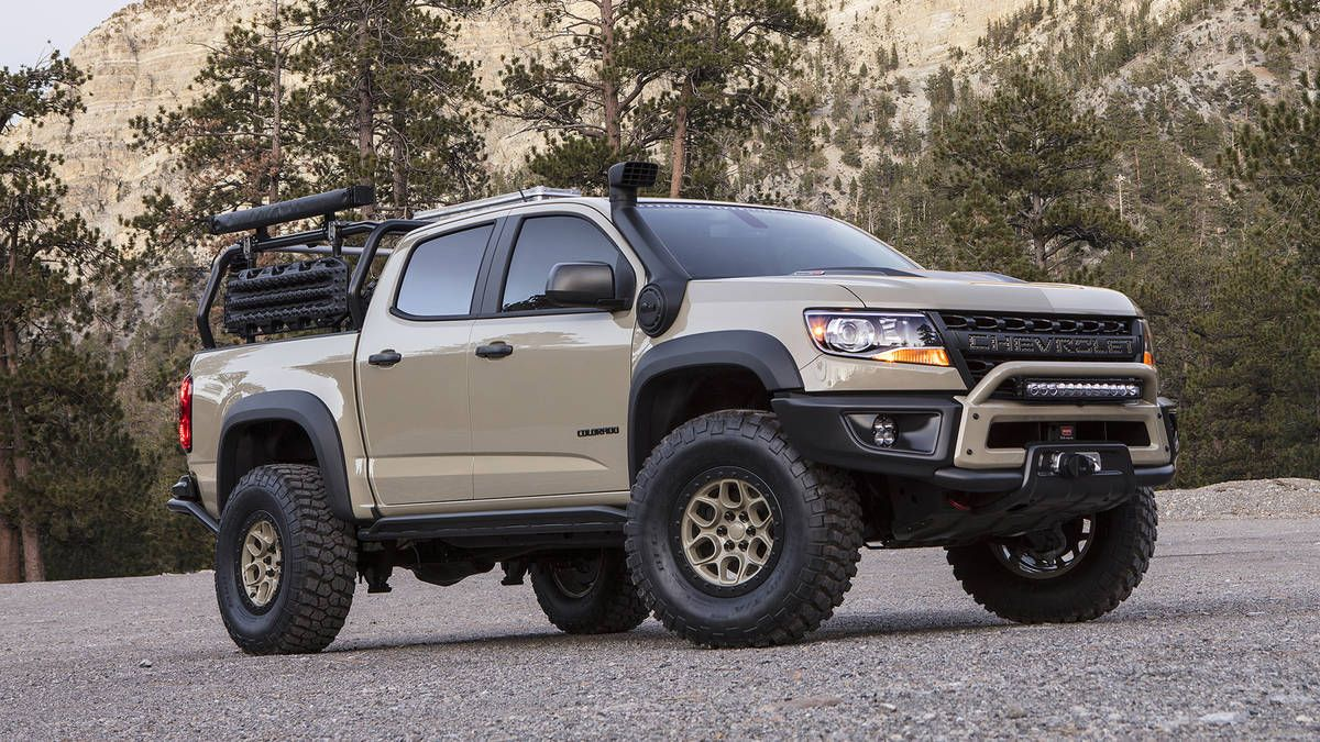 Chevrolet Colorado Zr2 Sema Concept Goes Full Overland Chevrolet Colorado Overland Gear Chevy Colorado