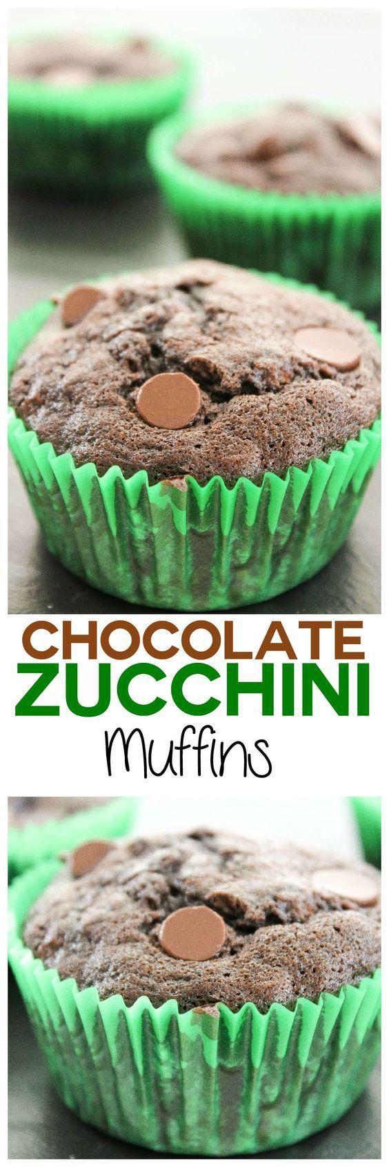 #zucchinichocolatechipmuffins #zucchini #chocolate #desserts #muffins #recipes #food #cake