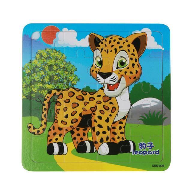 PUZZLE ANIMAUX 3d-Mini TIERPUZZLE leopard