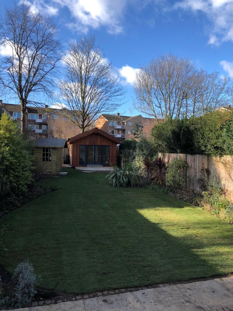 Landscaping Rolawn Medallion Turf laid in this garden