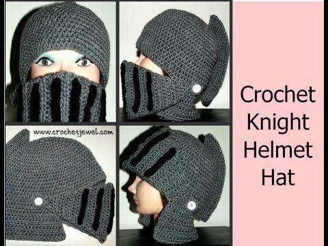 Crochet Boy\'s Knight Helmet Hat | | Hats off to Crochet | Pinterest ...