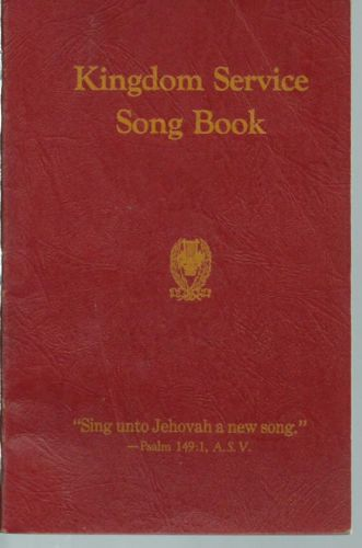 KINGDOM SERVICE SONG BOOK 1944 Watchtower Jehovah IBSA ORIGINAL EX COND