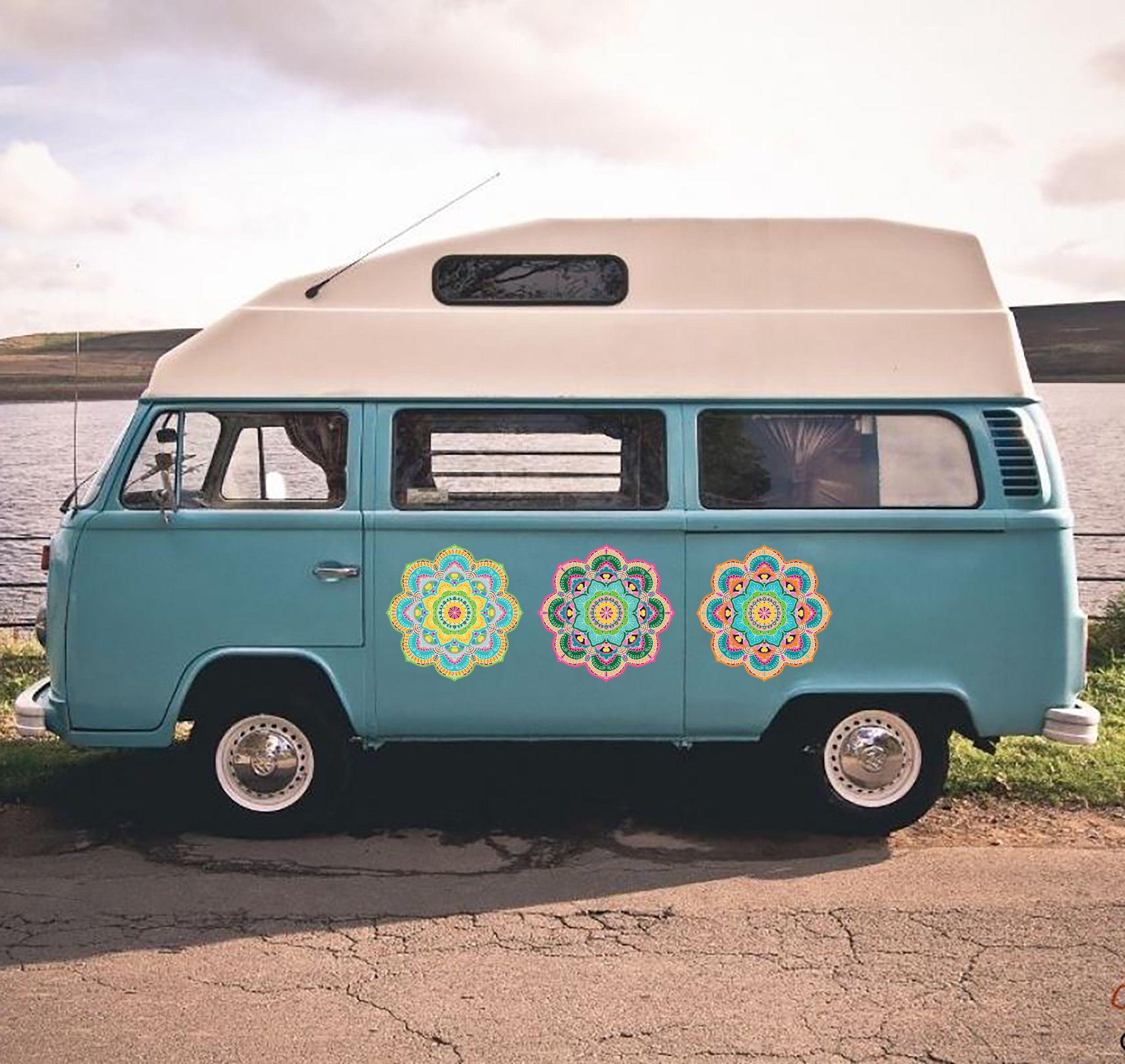 Set Of 3 Mandala Stickers For Camper Trailer Car Outdoor Uv Resistant Vinyl Stickers Mini Van Decorative Decals Gift Camper Travelers Car Decal Hippie Large Wall Decals Vans Stickers [ 2362 x 2498 Pixel ]
