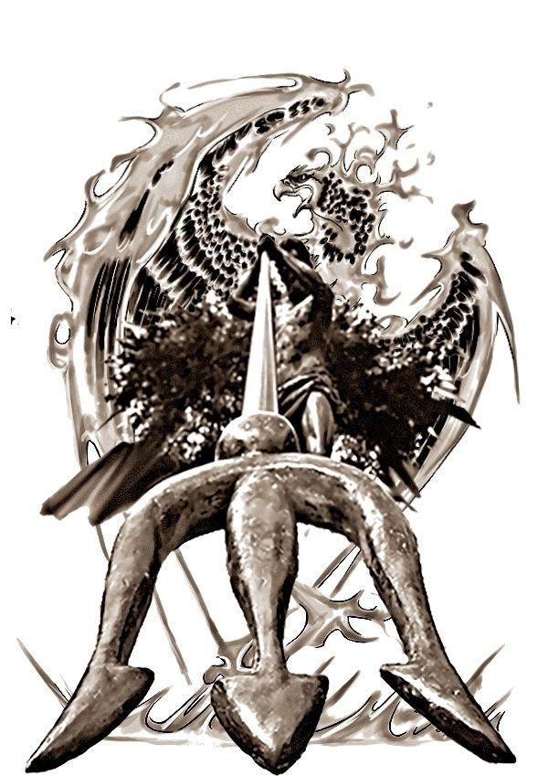 poseidon phoenix rising alternate by navyaerophys 600 849 tattoos pinterest. Black Bedroom Furniture Sets. Home Design Ideas