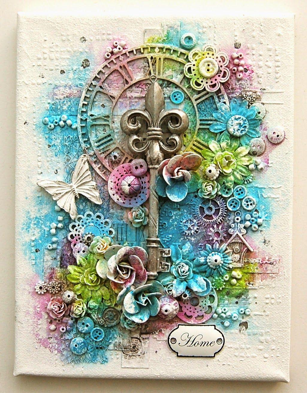 Pin von sandra kreativreich auf mixed media kreativ malen und inspirierende kunst - Leinwand gestalten basteln ...