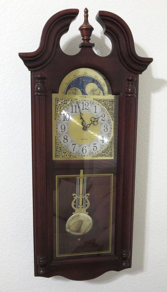howard miller wall clock pendulum fenwick dual chime parts not working