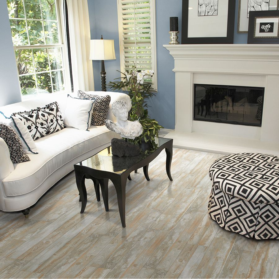 Shop Pergo Max 7 61 In W X 3 96 Ft L Boathouse Pine Embossed Laminate Wood Planks At Lowes Electric Fireplace Living Room Home Decor Living Room With Fireplace