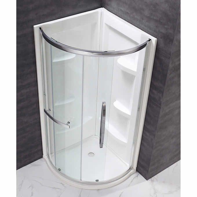 "ove decors elijah 34"" corner shower kit  corner shower"
